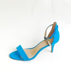 Kelly and Katie  blue suede heels